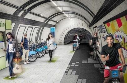 Le projet London Underline, l'innovation vélo