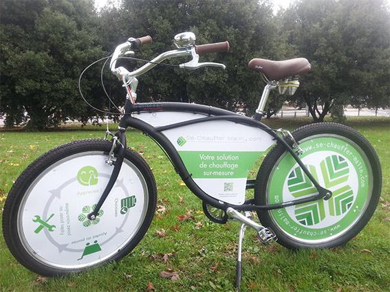 Le vélo se chauffer malin du salon de l'habitat
