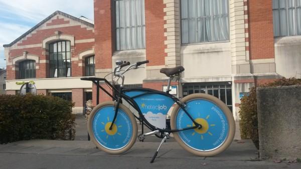 Un vélo météojob, que vous croiserez sans doute en ville !