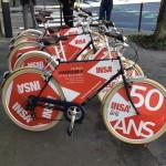 Les vélos INSA prêts à circuler à Rennes