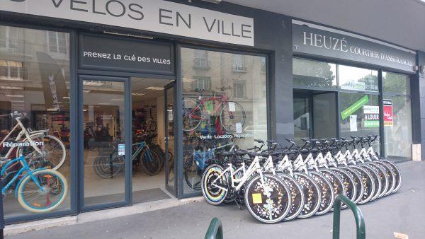 Les écovélos prêts à silloner la ville de Caen, chez notre partenaire Les vélos en ville