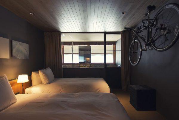 Chambre pour cycliste à l'hôtel Onomichi u2 - Japon