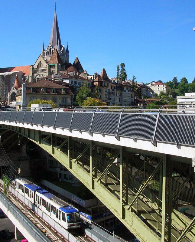 Vue de la ville de Lausanne