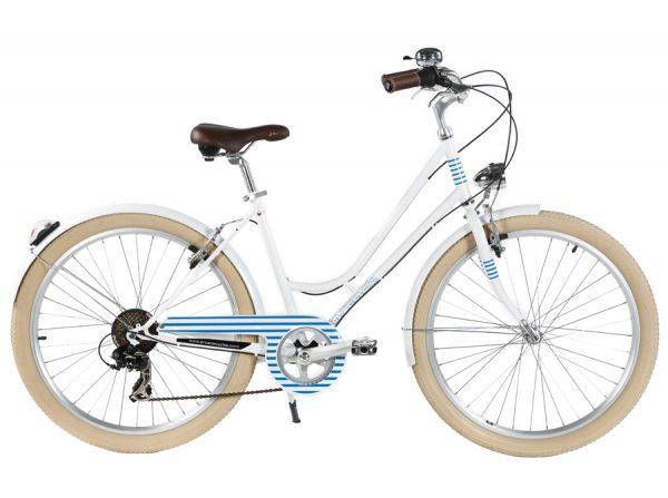 """Le vélo de Manon. Modèle """"Renaissance marinière"""" d'Arcade."""