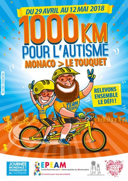 1000 km pour l'autisme