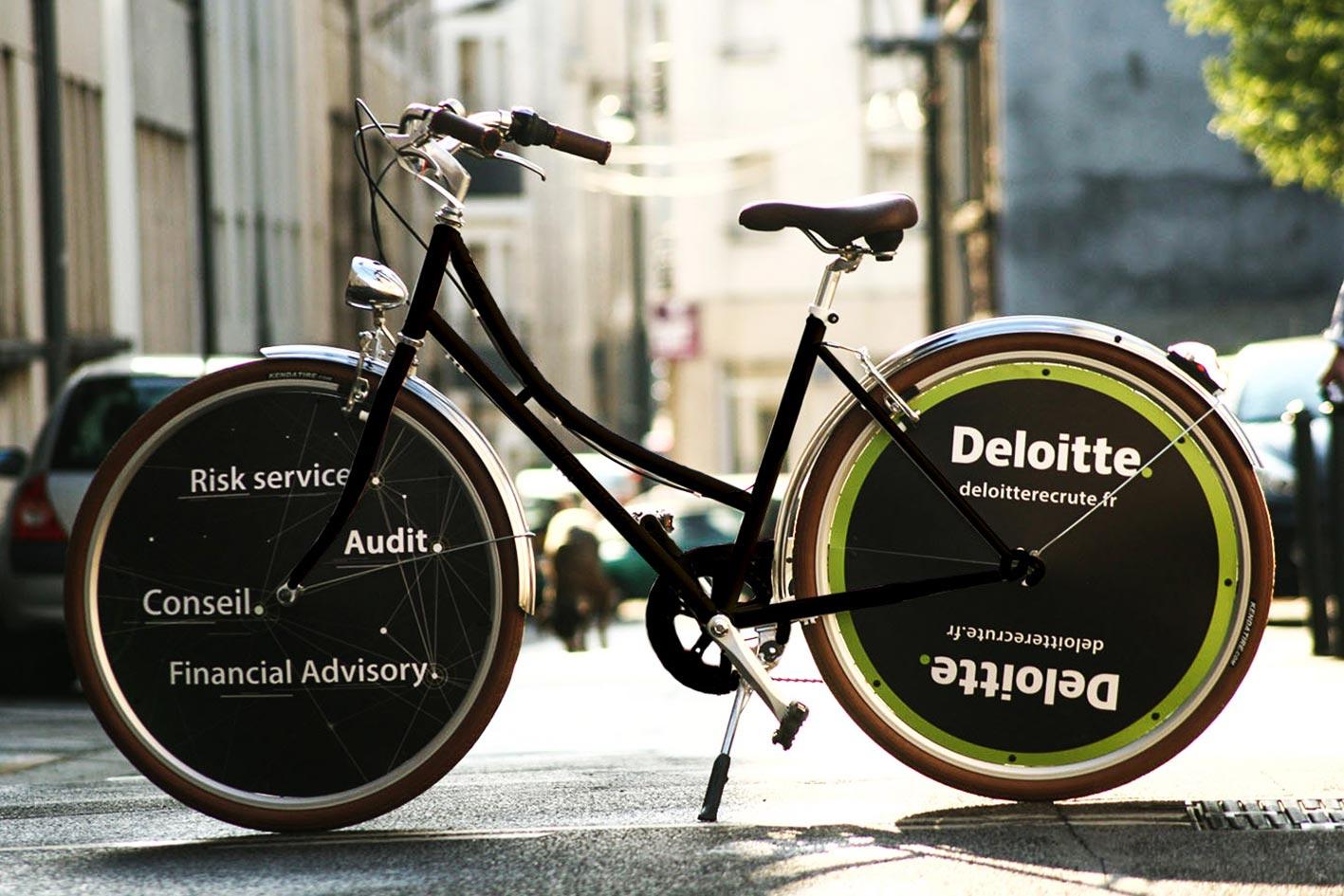 Ecovélo vélo Deloitte Audit