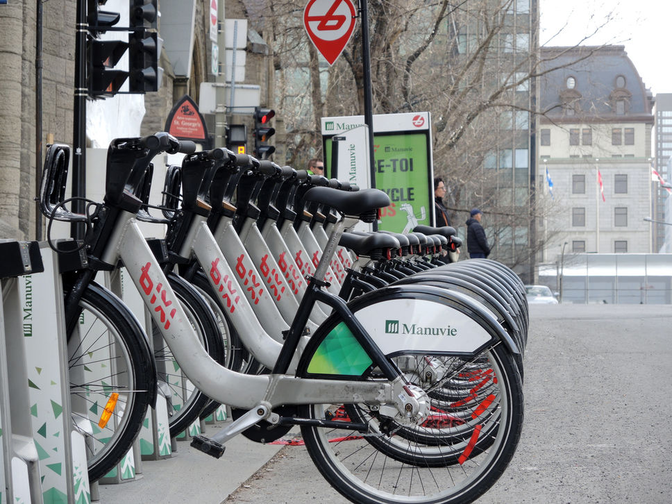 Vélos Bixi à Montréal