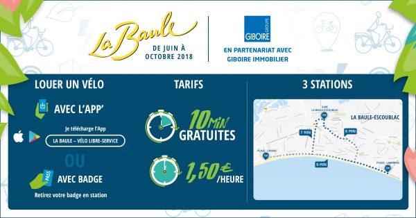 Informations sur les vélos en libre-service à La Baule