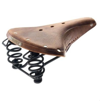Selle vintage en cuir avec gel. Pour une assise confortable sur votre vélo et faire des trajets urbains tout en fluidité