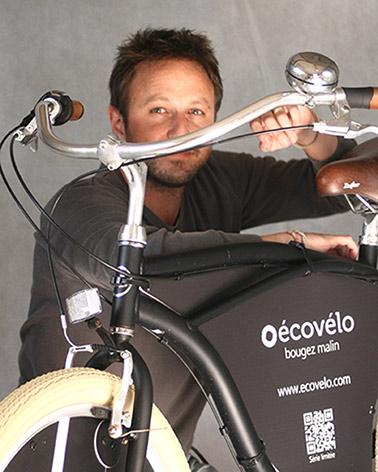 Sébastien Bourbousson, dirigeant et fondateur d'Écovélo.