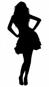 Silhouette d'une femme